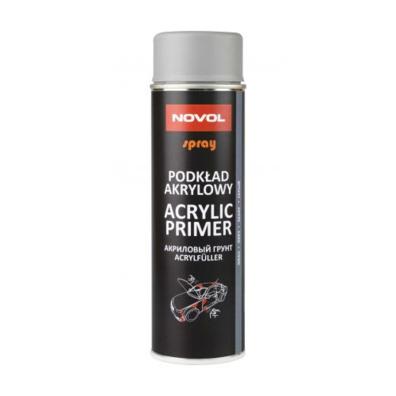 NOVOL Protect 370 Грунт акриловый (1К),серый спрей, 0,5л
