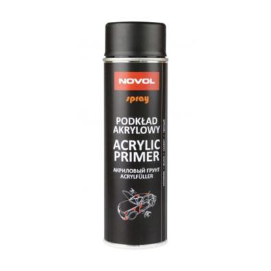 NOVOL Protect 370 Грунт акриловый (1К),черный спрей, 0,5л
