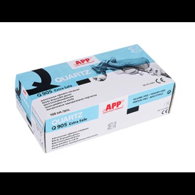 APP Перчатки QUARTZ Q905 extra safe нитриловые повышенной плотности M (1*100)
