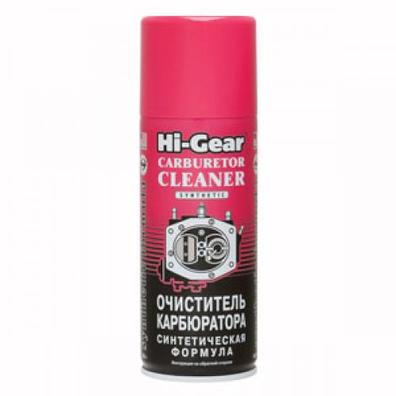 Hi-Gear HG3116 / HG3121 Очиститель карбюратора (синтетическая формула, аэрозоль), вес 510г