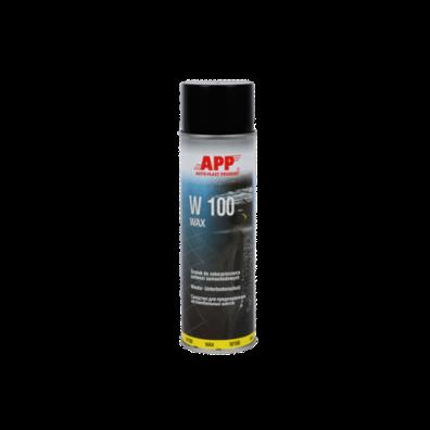 APP W100 WAX Восковая масса для защиты шасси антрацит аэрозоль 0,5л